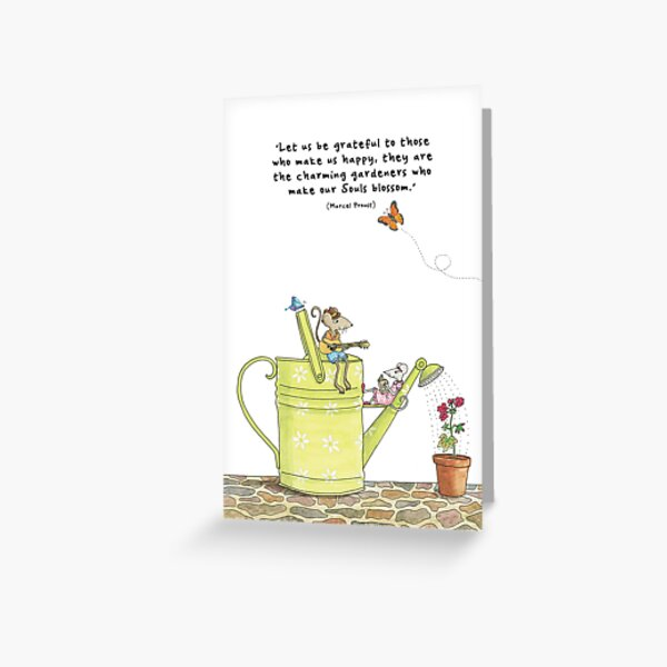 The charming gardeners Greeting Card