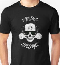Vaping Lifestyle - Vape Skull Steam Steamer Vapor Ohm Unisex T-Shirt
