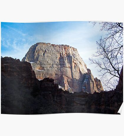The Great White Throne - Zion National Park Poster