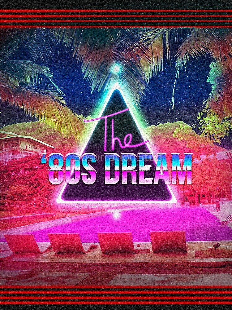 Aesthetic Vaporwave The 80s Dream Triangle Retro Style by SusurrationStud