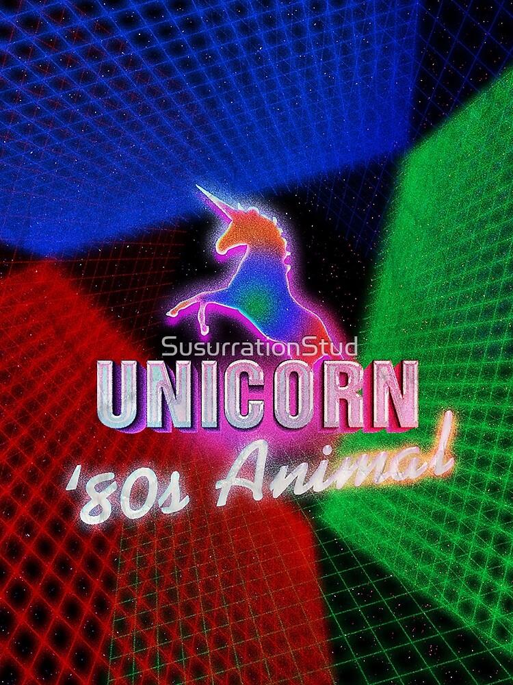 Aesthetic Vaporwave 80s Unicorn Animal Style by SusurrationStud