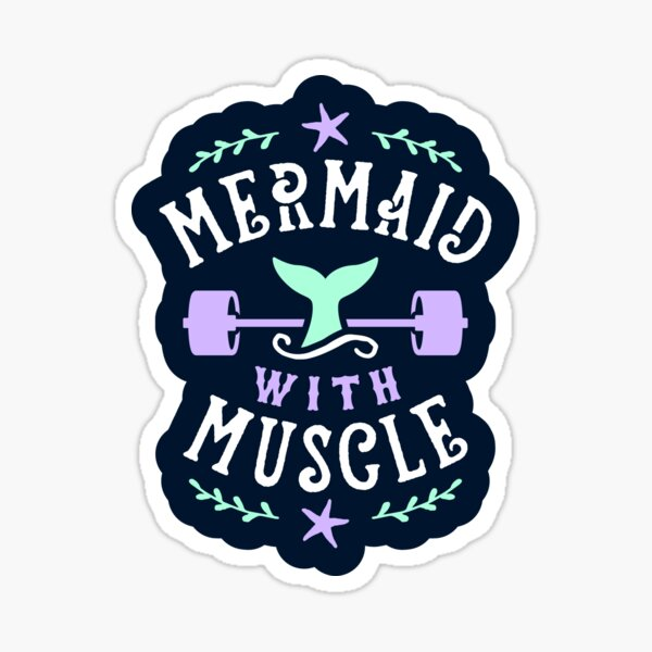 Mermaid With Muscle Sticker