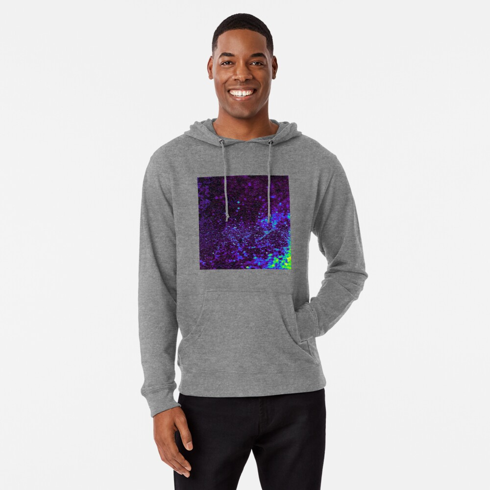 Abstract Graphic Black Green Concrete Shines Wallpaper Lightweight Hoodie