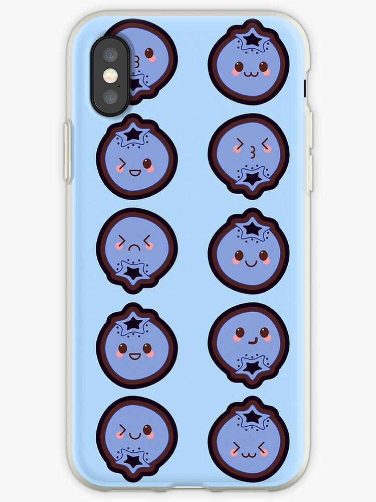Kawaii Blueberry Cute Pattern Wallpaper by SusurrationStud