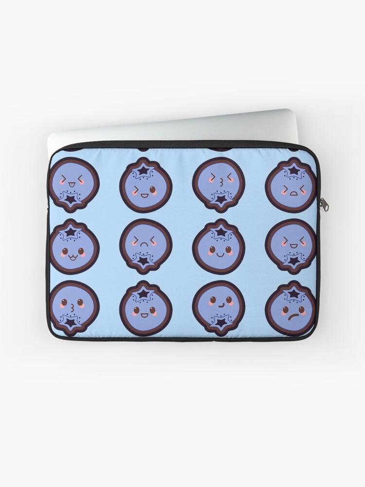 Kawaii Blueberry Cute Pattern Wallpaper Laptop Sleeve By Susurrationstud Redbubble