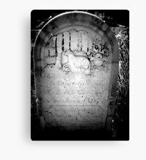 Headstone Canvas Print