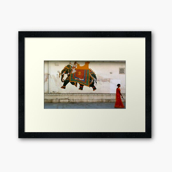 the elephant on the wall Framed Art Print