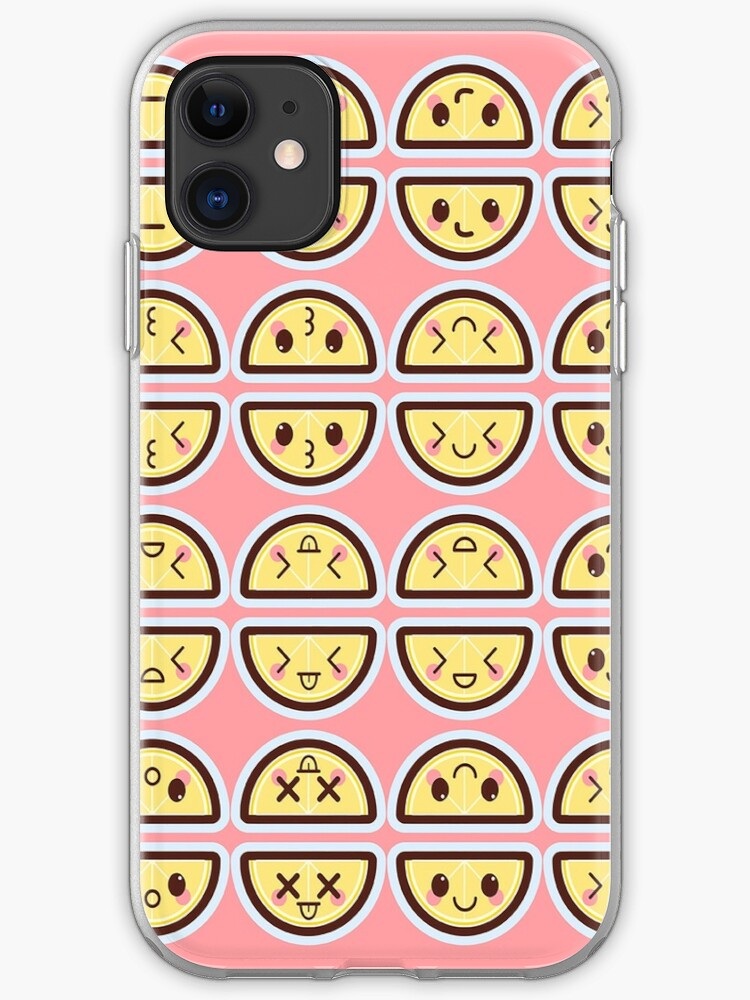 Kawaii Lemons Cute Pattern Wallpaper Iphone Case Cover By Susurrationstud Redbubble