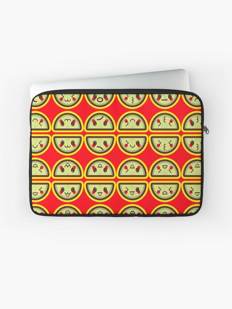 Kawaii Limes Cute Pattern Wallpaper Laptop Sleeve By Susurrationstud Redbubble