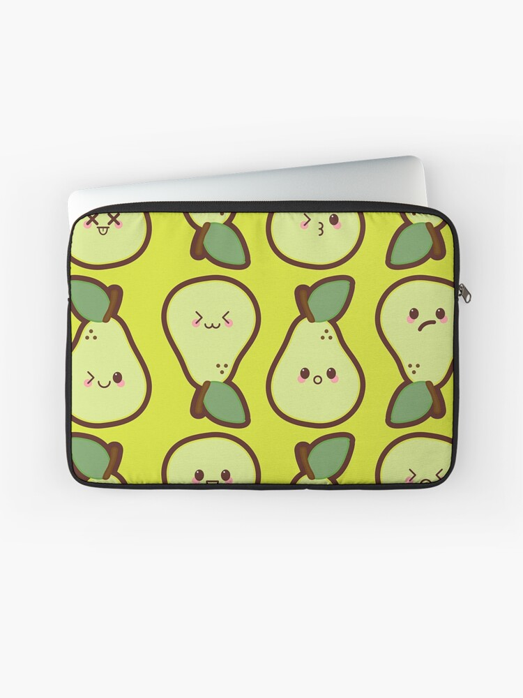 Kawaii Pears Cute Pattern Wallpaper Laptop Sleeve By Susurrationstud Redbubble
