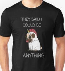 Cute dog unicorn design Unisex T-Shirt