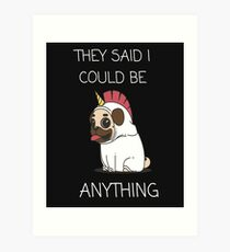Cute dog unicorn design Art Print
