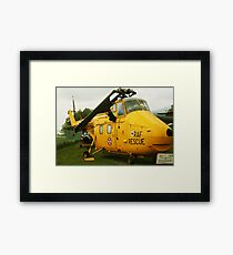 rescue helicopter Framed Print