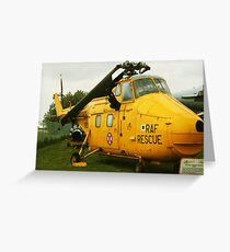 rescue helicopter Greeting Card