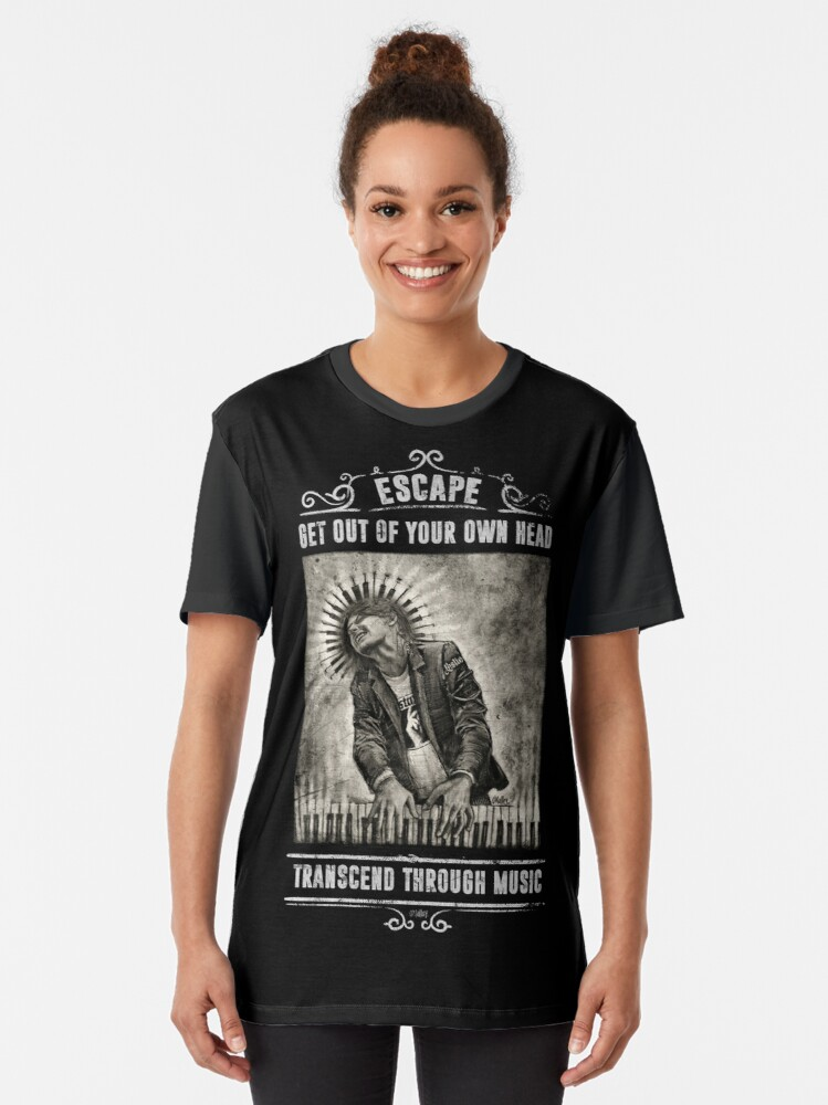 Alternate view of Transcend Through Music Graphic T-Shirt