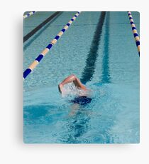 Swimmer Doing Warm Up Laps Canvas Print