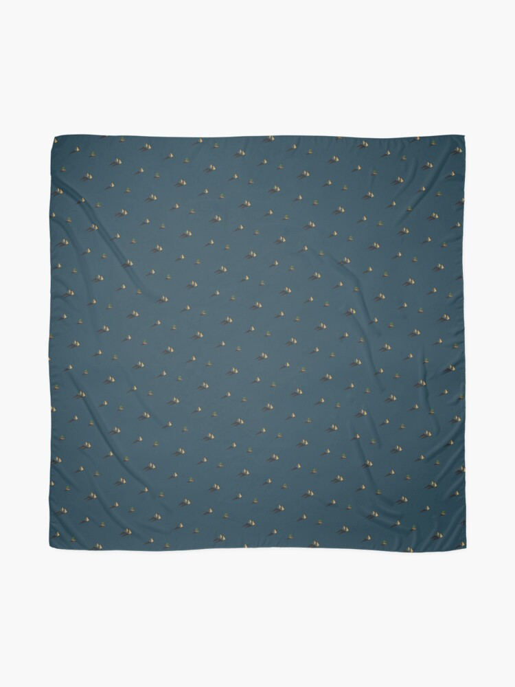 Alternate view of NIGHT - Egypt pyramid and cactus pattern in DARK BLUE Scarf
