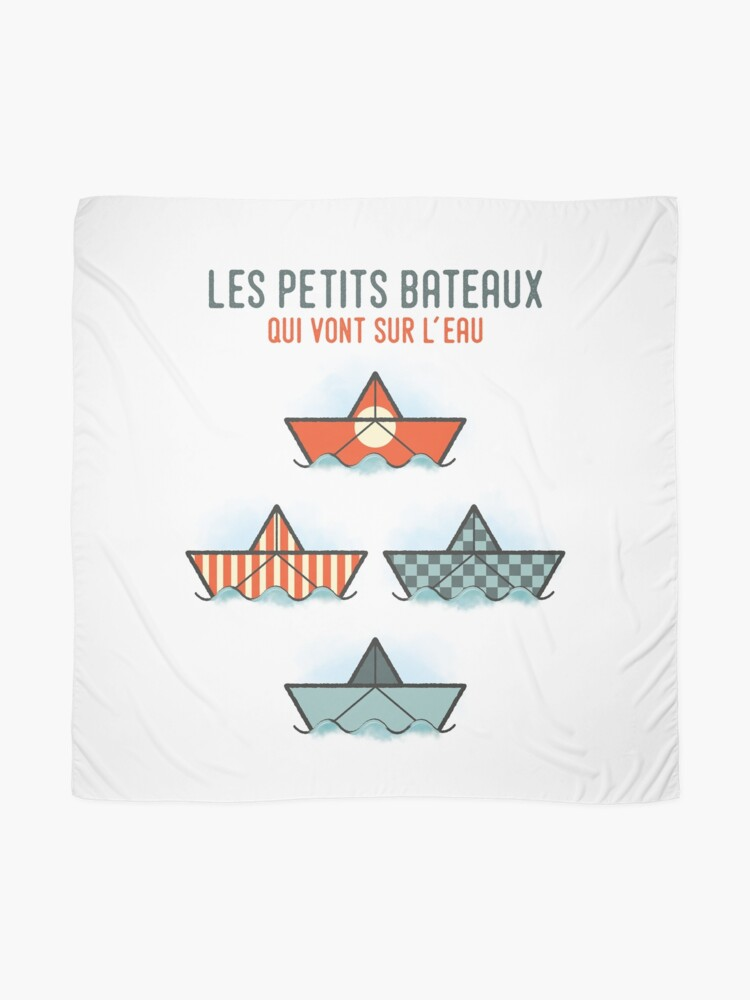 Alternate view of Les Petits Bateaux - Nautical Flags Edition Scarf