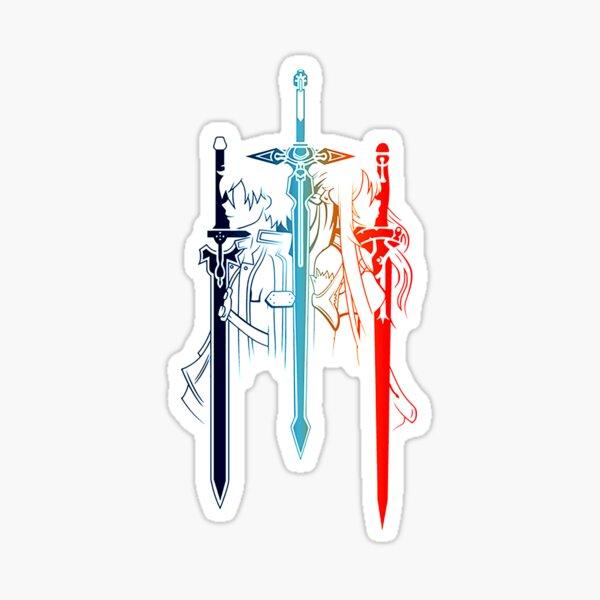 Kirito & Asuna minimalistisch Sticker