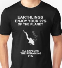 Funny Scuba Diving Gift Unisex T-Shirt