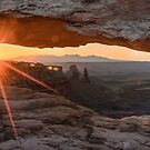 Canyon Panoramic Light - Mesa Arch in Canyonlands National Park by Gregory Ballos
