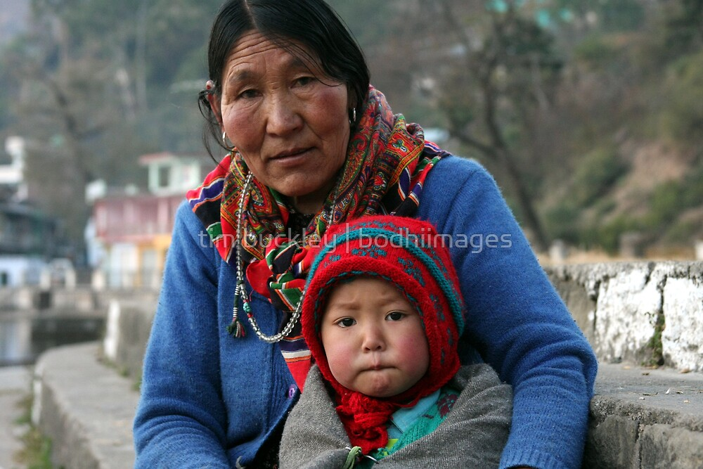 ladakhi grandmother and child by tim buckley | bodhiimages