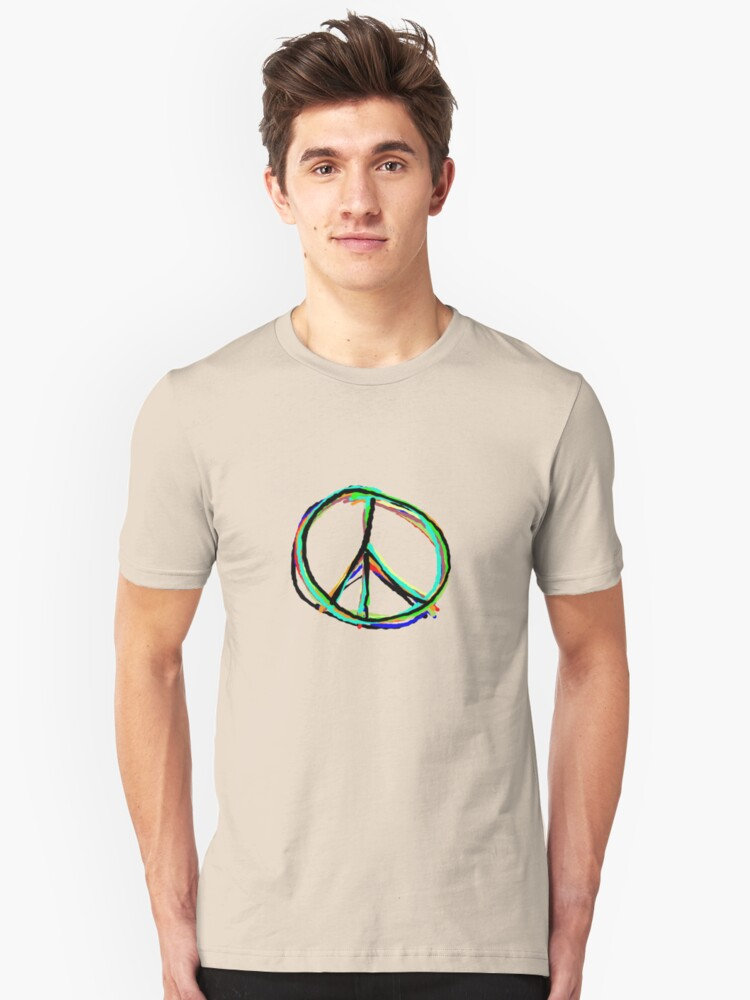 Peace in all colors Unisex T-Shirt Front