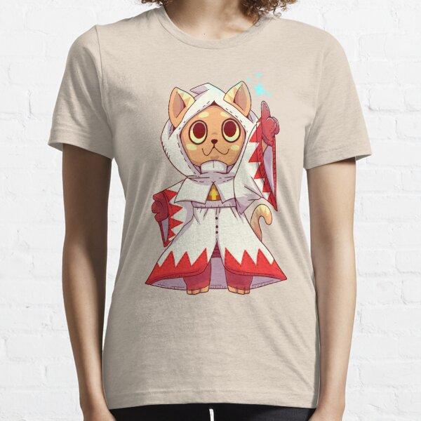 Weiß Magier Fantasy Cat Essential T-Shirt