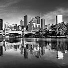 Melbourne Reflected 1 by Christine Wilson