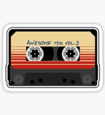 Awesome Mixtape Vol. 3, Tape, Music, Cassette Sticker