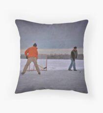 pond hockey Throw Pillow