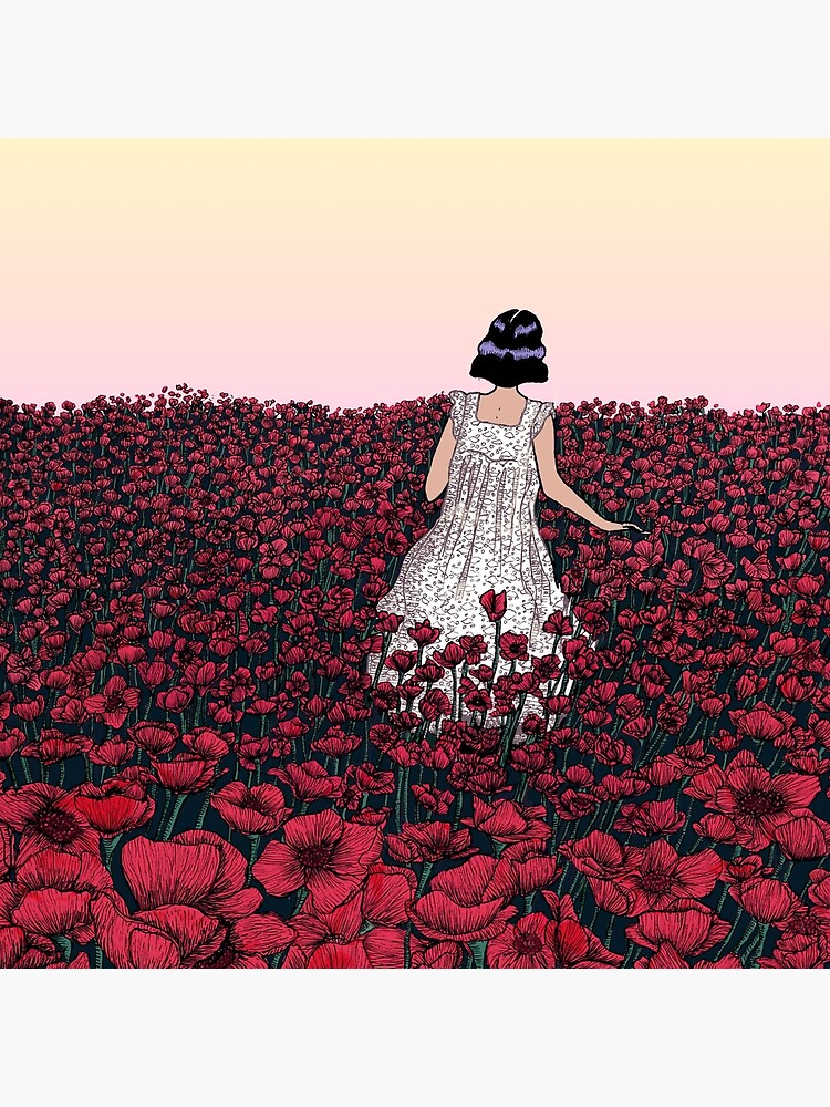 Field of Poppies | Coloured Version by ECMazur