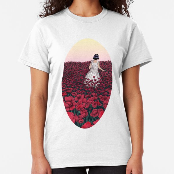 Field of Poppies | Coloured Version Classic T-Shirt