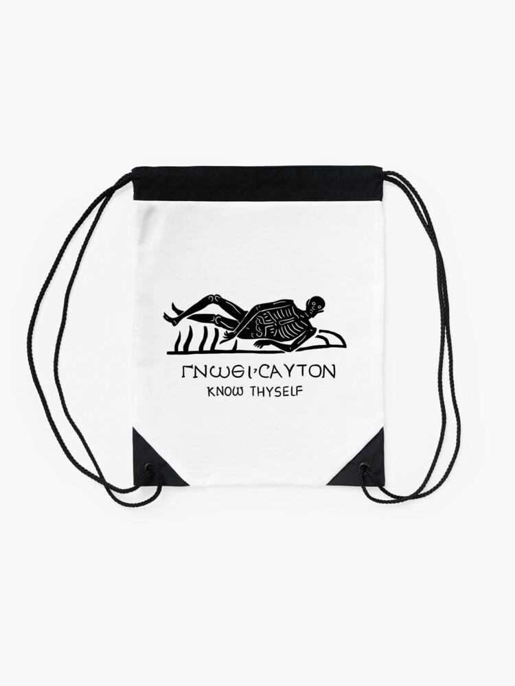 Alternate view of Know Thyself Drawstring Bag