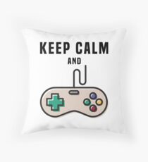 Keep Calm and Game Throw Pillow