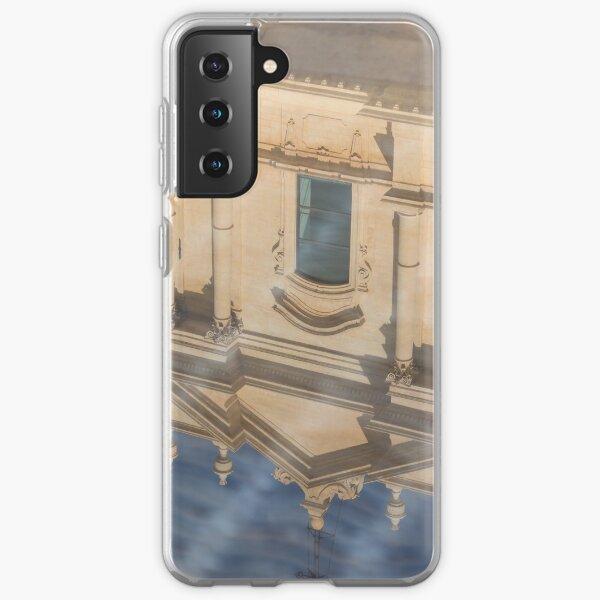Unusual View - Noto Cathedral Saint Nicholas of Myra Reflected Samsung Galaxy Soft Case
