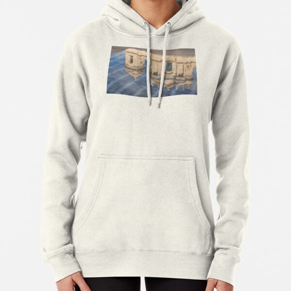 Unusual View - Noto Cathedral Saint Nicholas of Myra Reflected Pullover Hoodie
