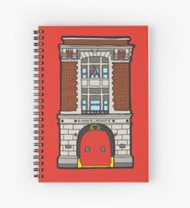 8 Hook & Ladder New York Fire Station Spiral Notebook