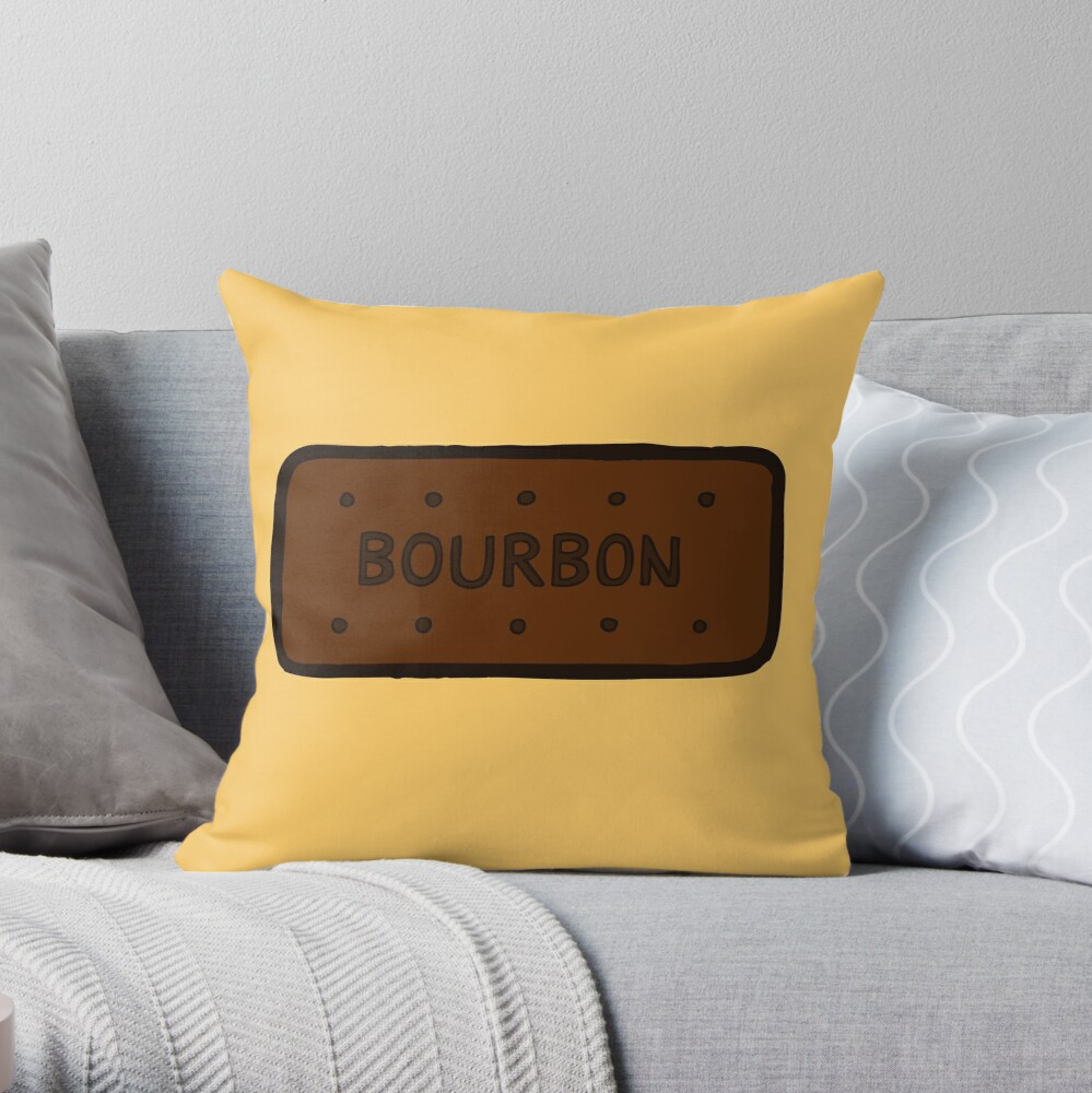 Chocolate Bourbon Biscuit Throw Pillow