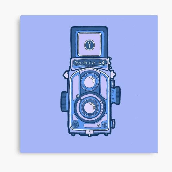 Blue vintage yashica camera. Canvas Print
