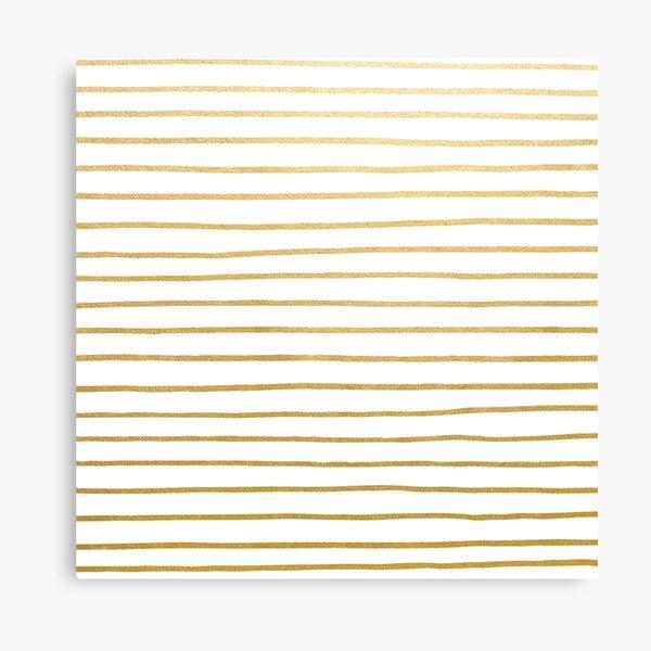 Gold Parisian Stripe Pattern Canvas Print