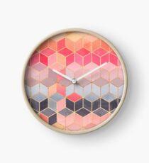 Cubes heureux Horloge