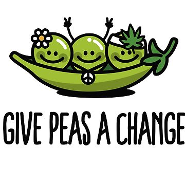 Give peas / peace a change hippies by LaundryFactory