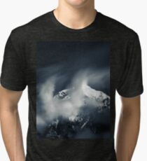 Darkness and chaos over the mountain Tri-blend T-Shirt