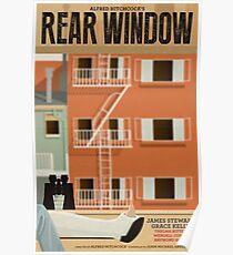 Alternatives Filmplakat des hinteren Fensters Poster