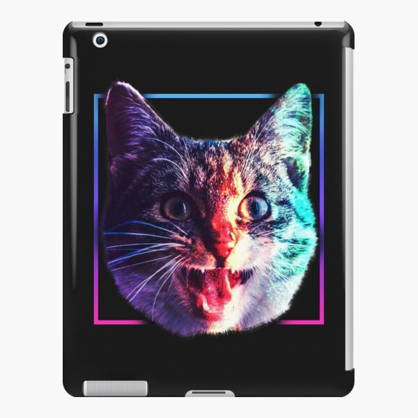 Kawaii Chubby Cats Cat Life Colorful Pattern Wallpaper Ipad Case