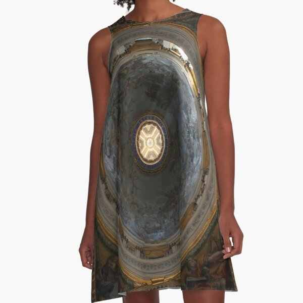 Dome,Nature, temper,   disposition, tone, structure, framework, composition, frame A-Line Dress