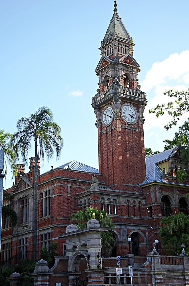 Red brick clock tower by Kerry LeBoutillier