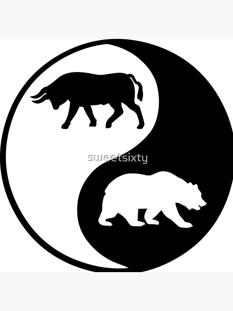 Trader Bull Bullish Bear Bearish Wall Street Stock Market by sweetsixty