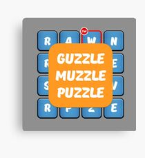 Guzzle Muzzle Puzzle Ruzzle Inspiration Canvas Print